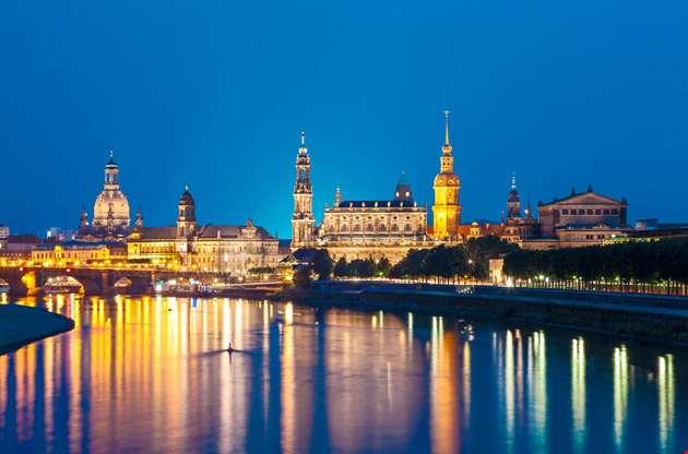 dresden-skyline-at-night-Dresden Skyline at Night