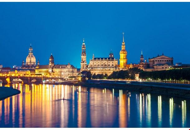 Dresden Skyline at Night