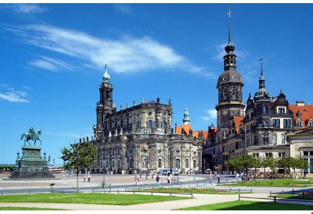 Monument to King John Of Saxony Catholic Church Dresden Castle