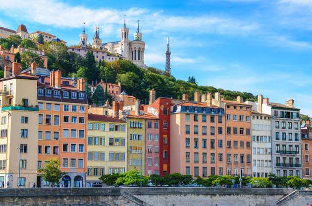 lyon-cityscape-from-saone-river-Lyon Cityscape from Saone River