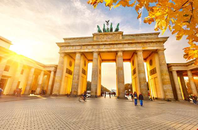 brandenburg-gate-at-sunset-berlin-Brandenburg Gate at Sunset Berlin