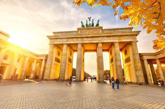 brandenburg-gate-at-sunset-berlin-Brandenburg Gate at Sunset Berlin