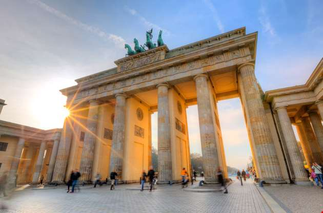 brandenburg-gate-at-sunset-Brandenburg Gate at Sunset