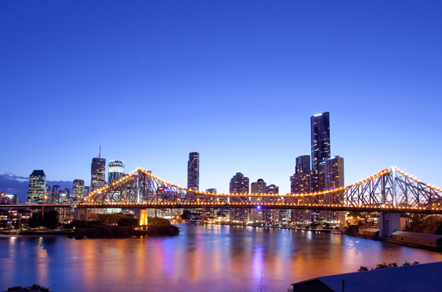 brisbane-city-night-Brisbane City Night