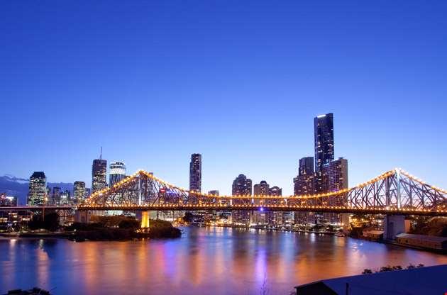 brisbane-city-night-Brisbane City Night