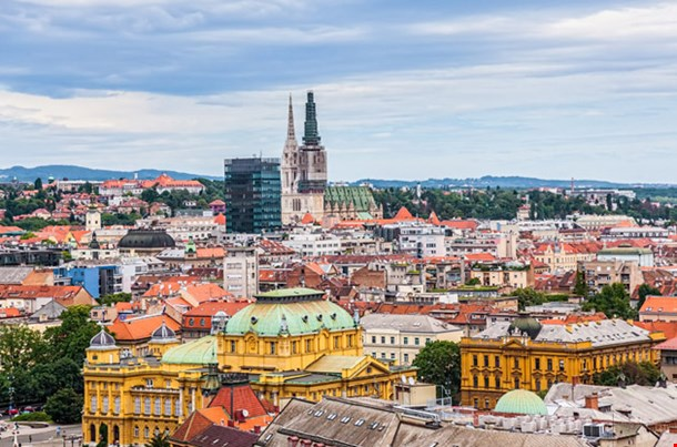 Panorama of the City Center Zagreb
