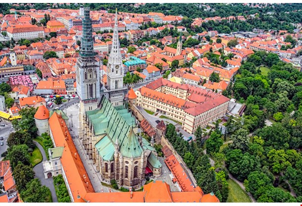 Zagreb Cathedral With Archbishops Palace