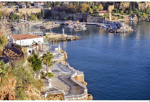 View Of Old Town In Antalya