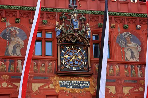 detail-of-basel-town-hall-rathaus-Detail Of Basel Town Hall, Rathaus