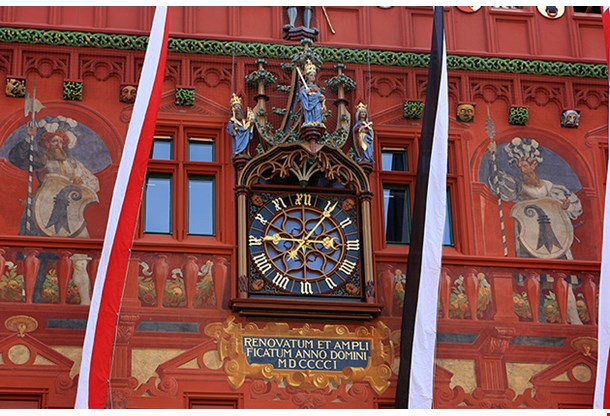 Detail Of Basel Town Hall, Rathaus