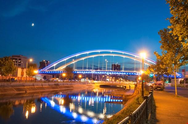 Basarab Bridge In The Night Bucharest