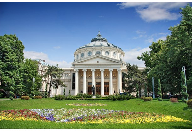 Romanian Athenaeum Is A Concert Hall In The Center Of Bucharest