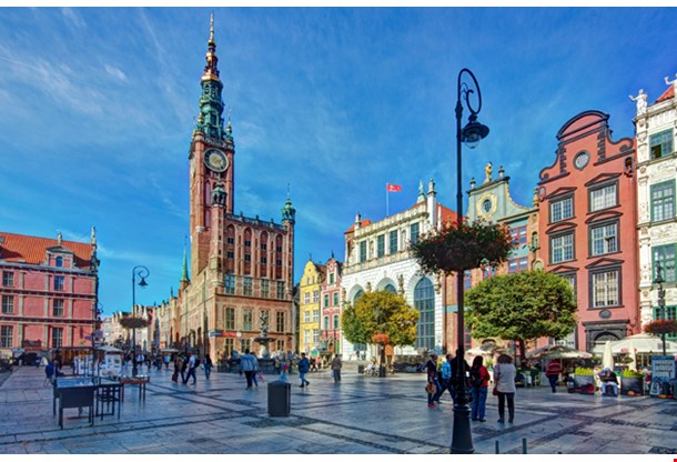 Gdansk Long Market, Old Town, The Town Hall And Artus Court