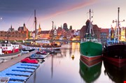 harbor-at-motlawa-river-with-old-town-of-gdansk-poland-Harbor At Motlawa River With Old Town Of Gdansk, Poland