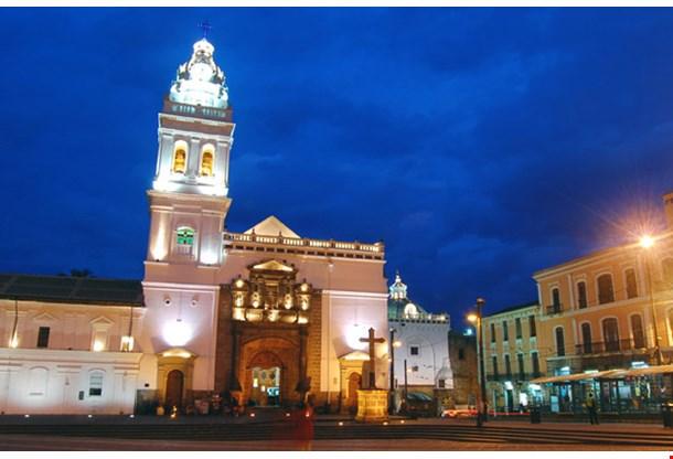 Santo Domingo Church in Downtown Quito