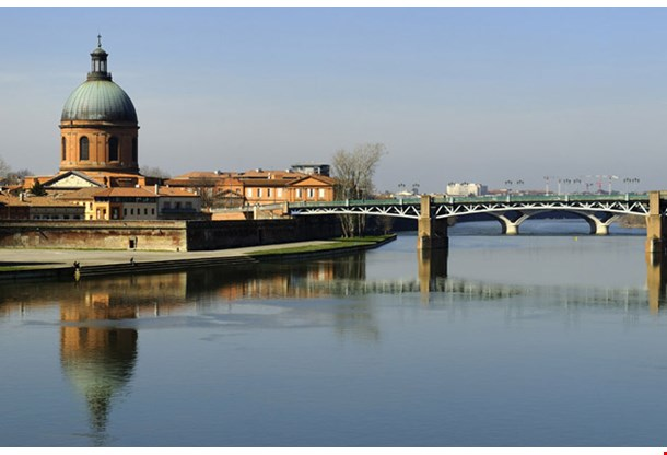 The Garonne River in Toulouse